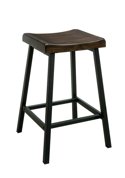 Furniture Of America Lainey Oak Wood Finish 2 Piece Counter Height Dining Stool