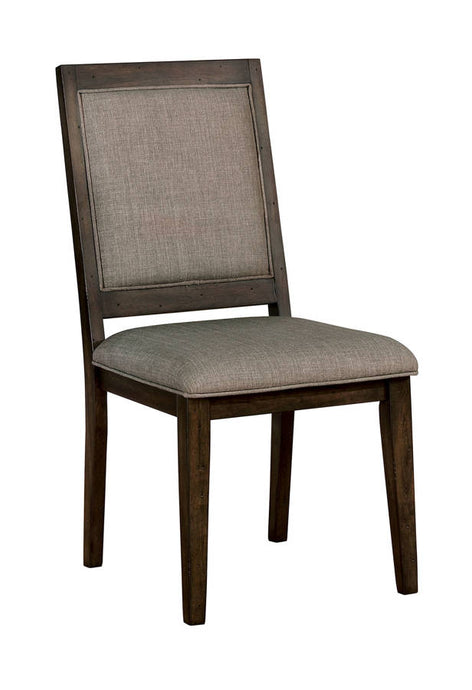 Furniture Of America Ryegate Natural Wood Finish 2 Piece Dining Chair