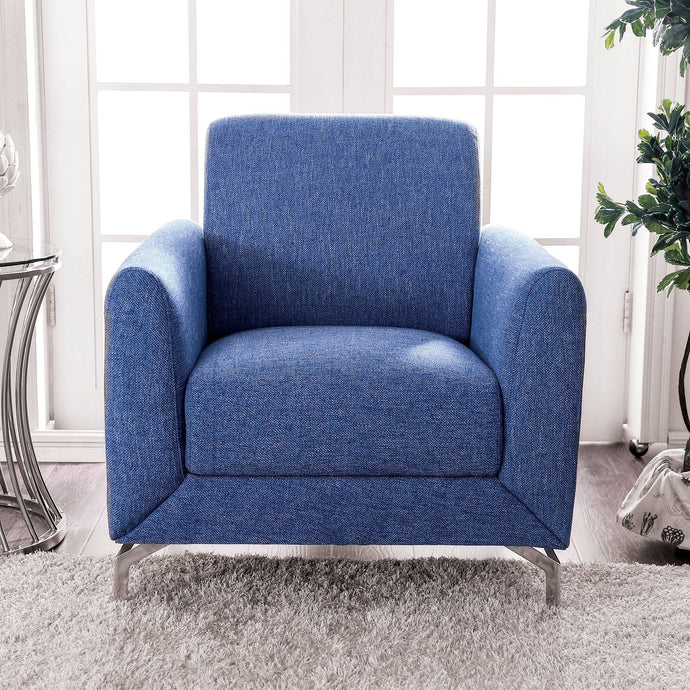 Furniture Of America Lauritz Blue Fabric Finish Chair