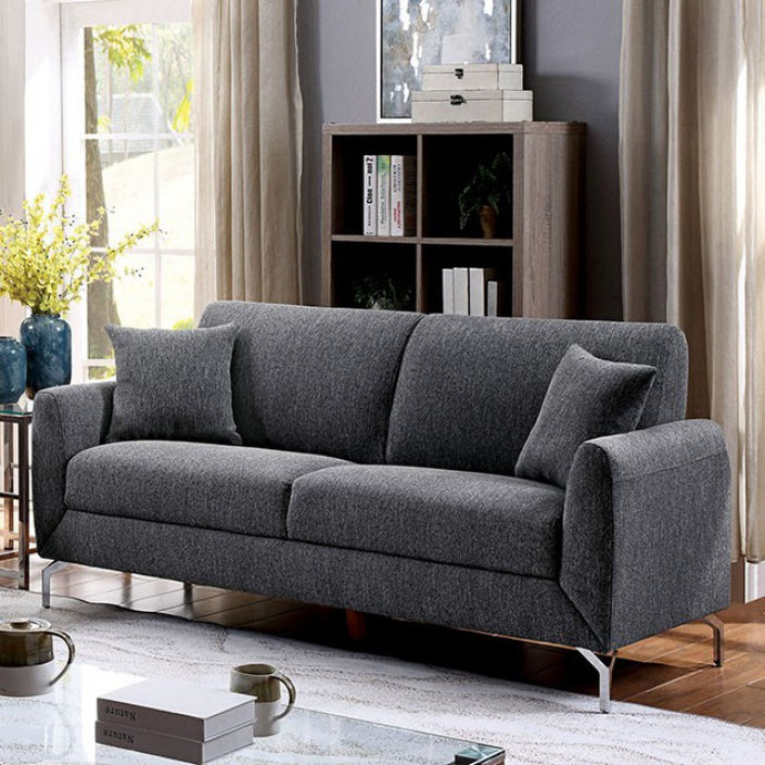 Furniture Of America Lauritz Gray Fabric Finish Sofa
