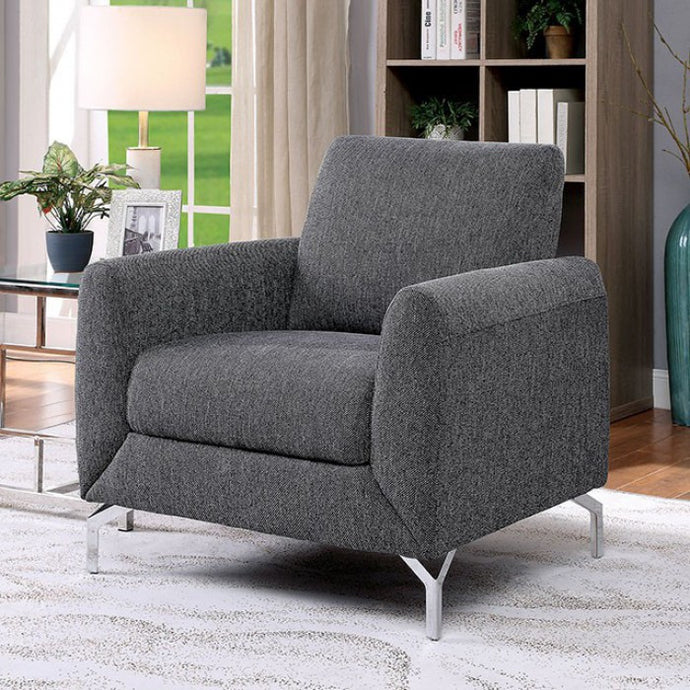 Furniture Of America Lauritz Gray Fabric Finish Chair