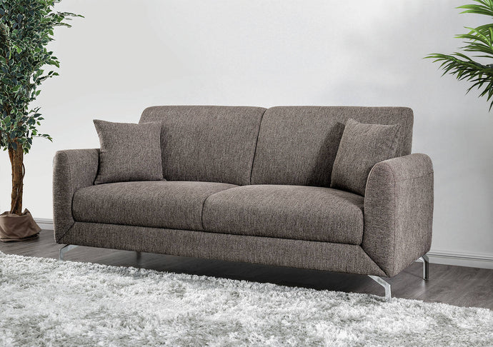 Furniture Of America Lauritz Brown Fabric Finish Sofa