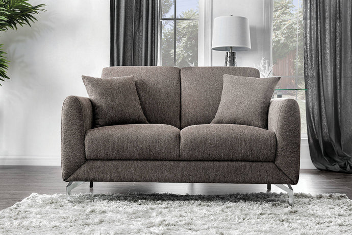 Furniture Of America Lauritz Brown Fabric Finish Loveseat