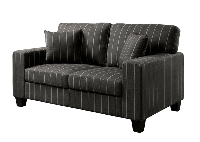 Furniture Of America Pingree Dark Gray Fabric Finish Loveseat