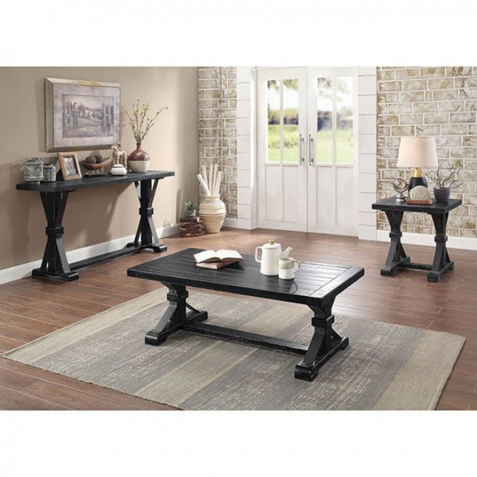 Furniture Of America Enderlin Black Wood Finish 3 Piece Coffee Table Set