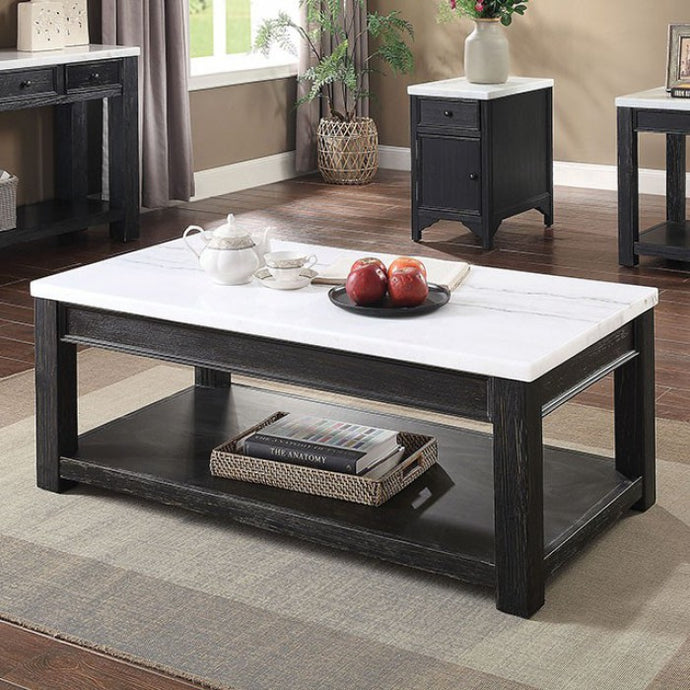 Furniture Of America McGill Black Wood Finish Coffee Table