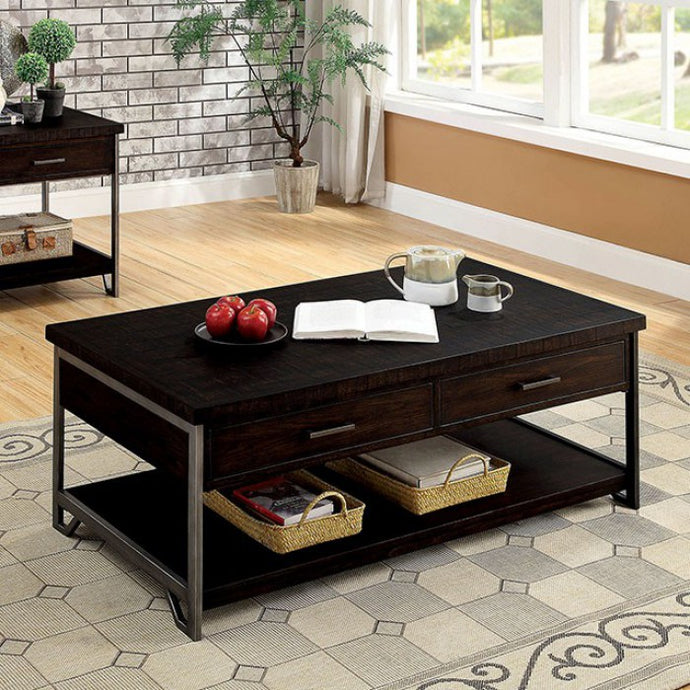 Furniture Of America Wasta Dark Oak Wood Finish Coffee Table
