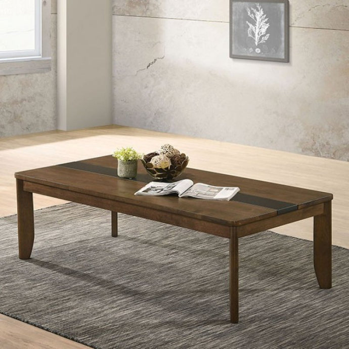 Furniture Of America Jacob Walnut Wood Finish Coffee Table