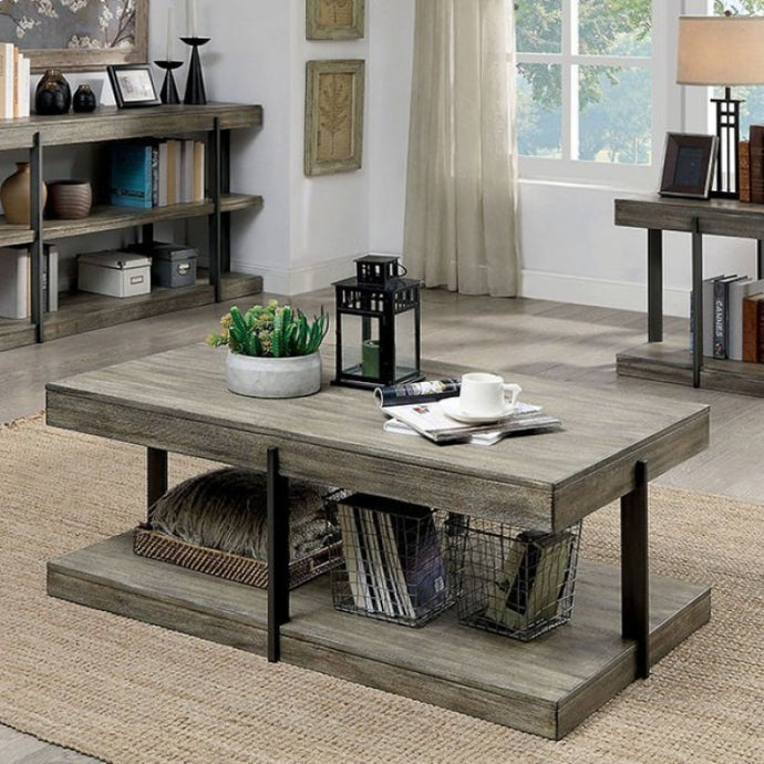Furniture Of America Tual Gray Wood Finish Coffee Table