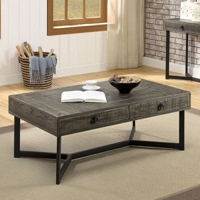 Furniture Of America Veblen Oak Wood Finish Coffee Table