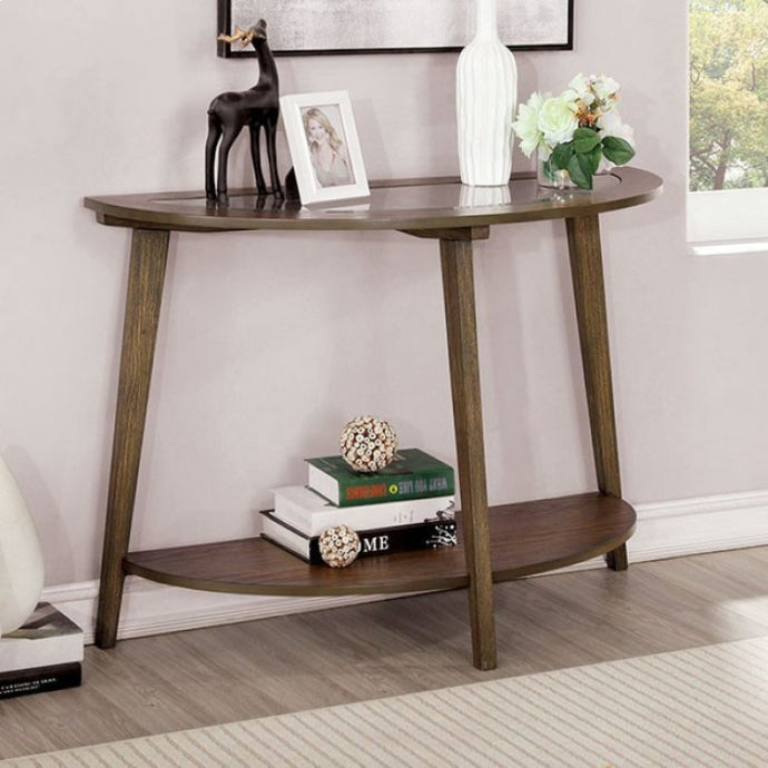 Furniture Of America Uriel Dark Oak Wood Finish Sofa Table