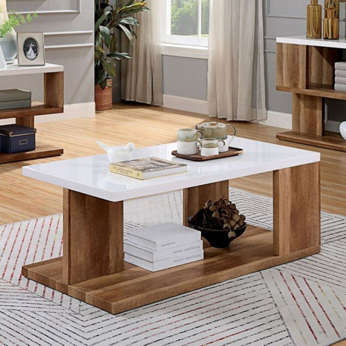 Furniture Of America Majken Natural Wood Finish Coffee Table