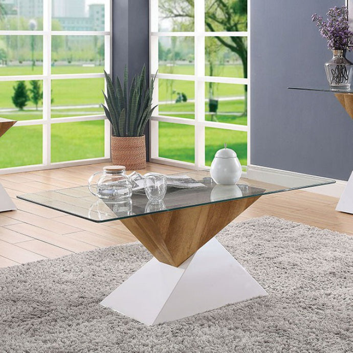 Furniture Of America Bima II Natural Wood Finish Coffee Table