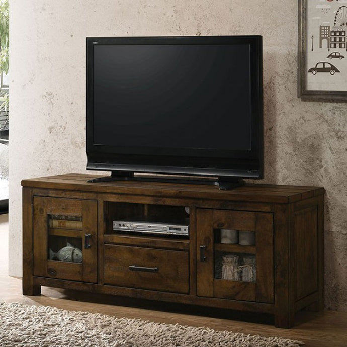 Furniture Of America Carole Oak Wood Finish TV Stand