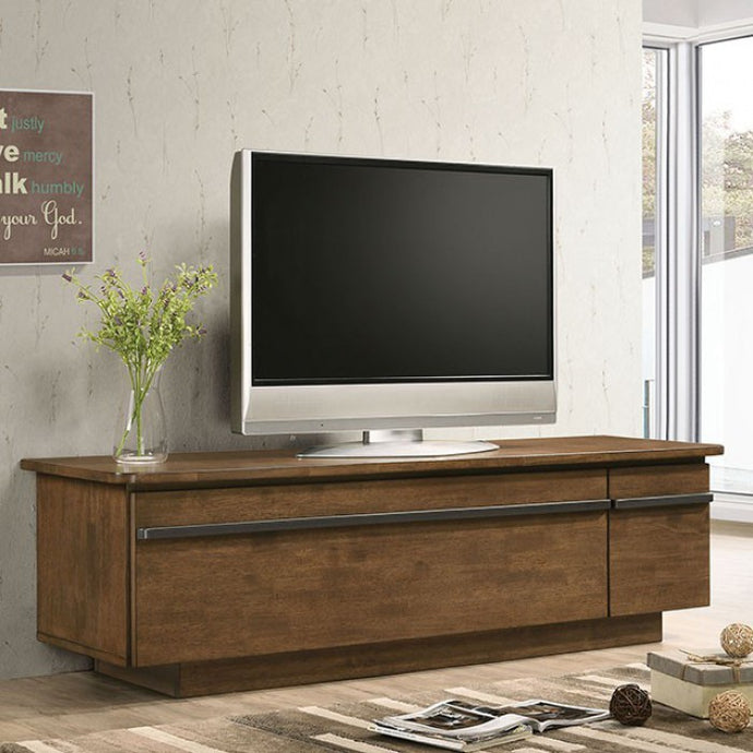 Furniture Of America Doris Walnut Wood Finish TV Stand