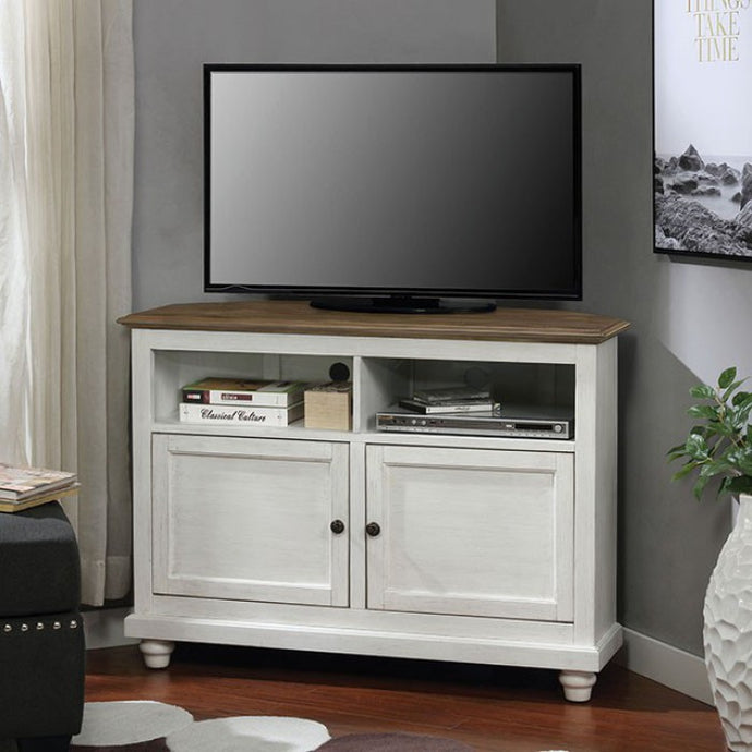 Furniture Of America Palu White And Oak Wood Finish TV Stand