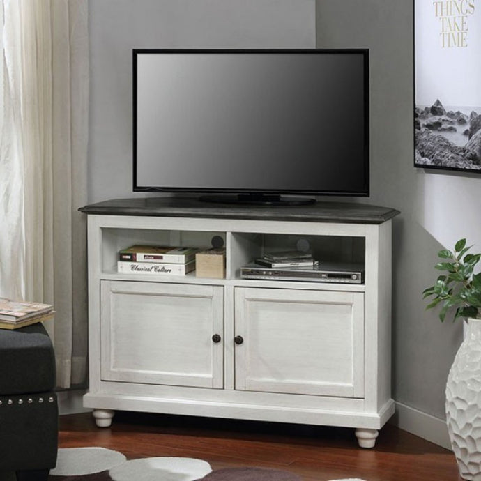 Furniture Of America Palu Gray And White Wood Finish TV Stand