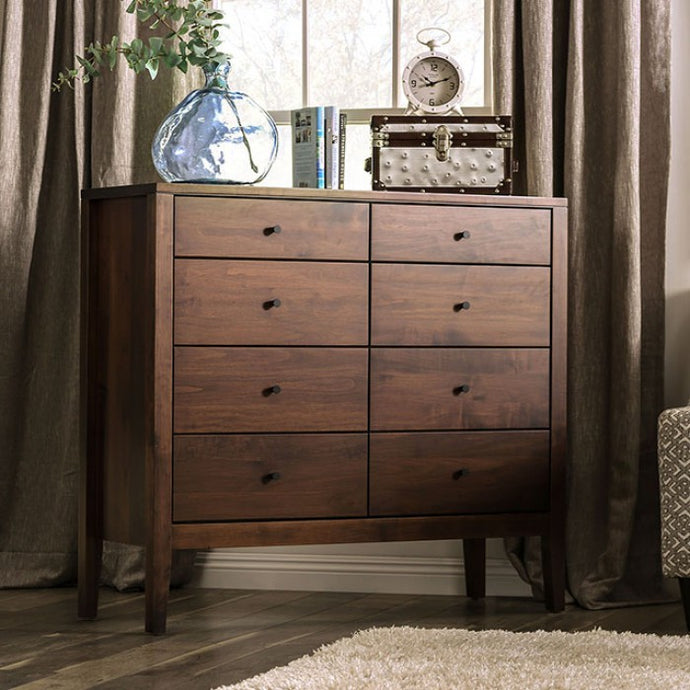 Furniture Of America Willamette I Espresso Wood Finish 8 Drawers Dresser