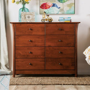Furniture Of America Keizer Cherry Wood Finish 8 Drawers Dresser