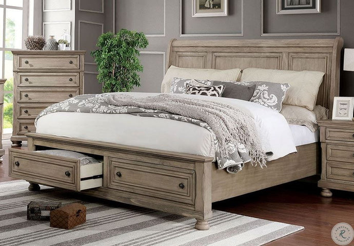 Furniture Of America Willa Gray Wood Finish Eastern King Bed
