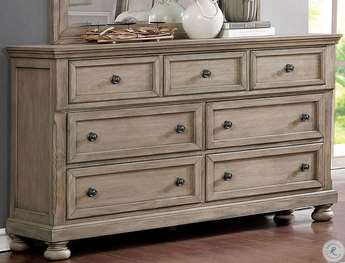 Furniture Of America Willa Gray Wood Finish 7 Drawers Dresser