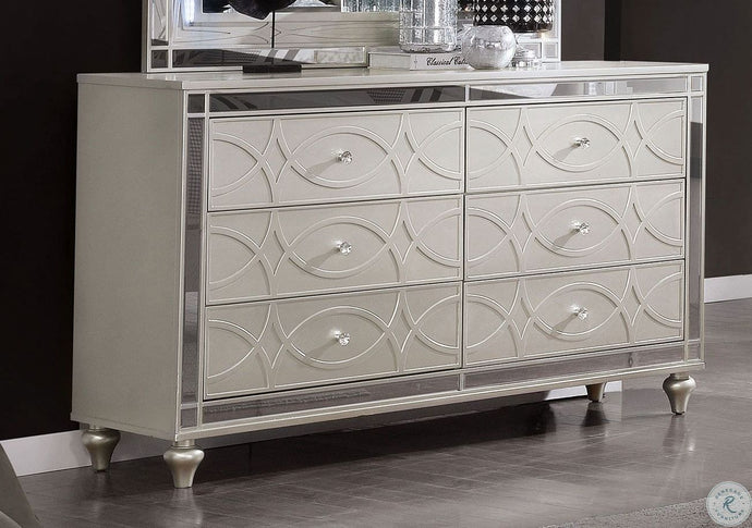 Furniture Of America Manar Silver Wood Finish Dresser