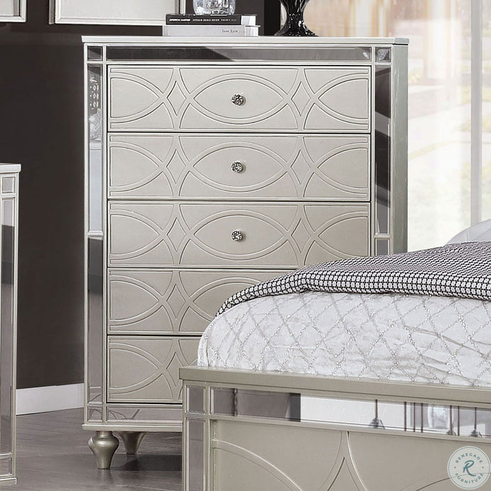 Furniture Of America Manar Silver Wood Finish Chest