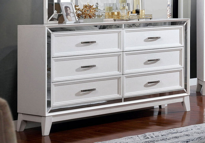 Furniture Of America Lamego White Wood Finish Dresser