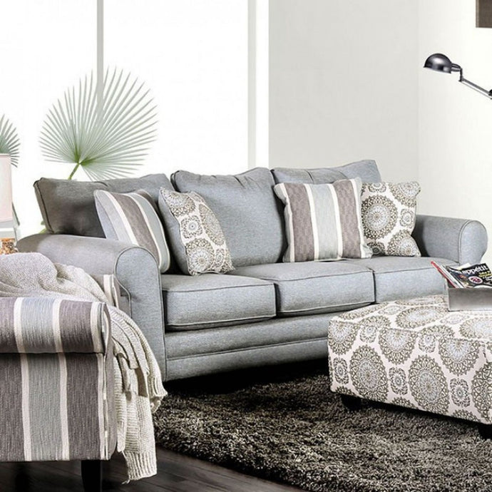 Furniture Of America Misty Gray Fabric Finish Sofa