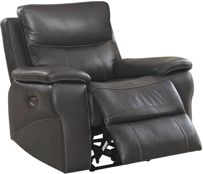 Furniture Of America Lila Gray Leather Finish Recliner Chair