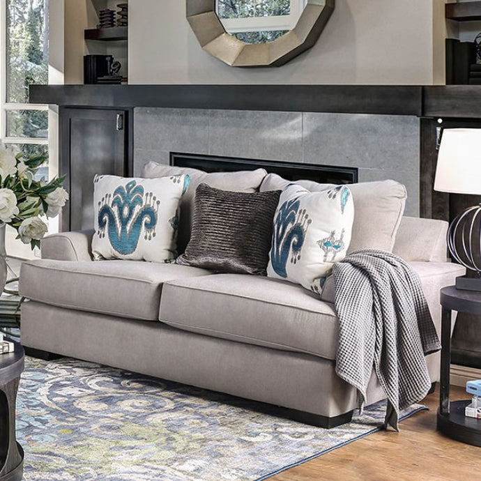 Furniture Of America Renesmee Gray Chenille Finish Loveseat