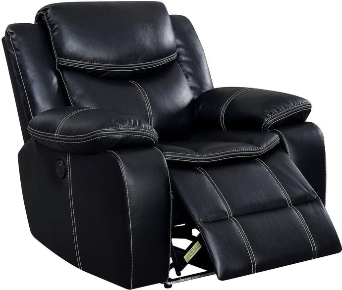 Furniture Of America Sirius Black Breathable Leatherette Finish Chair