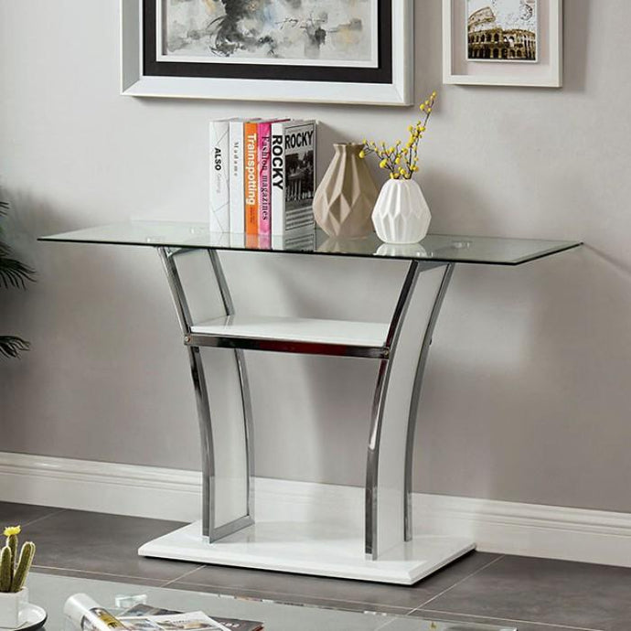 Furniture Of America Staten White Metal Finish Sofa Table