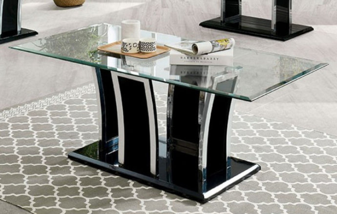 Furniture Of America Staten Black Metal Finish Coffee Table