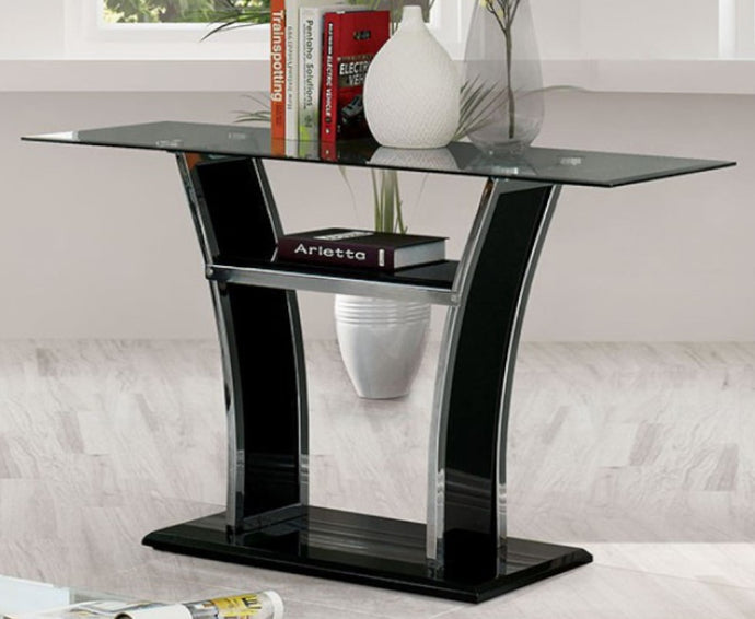 Furniture Of America Staten Black Metal Finish Sofa Table