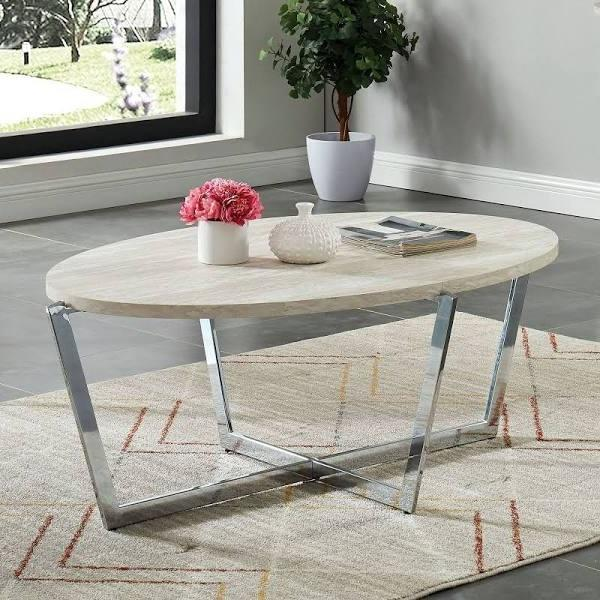 Furniture Of America Madisyn White Wood Finish Coffee Table
