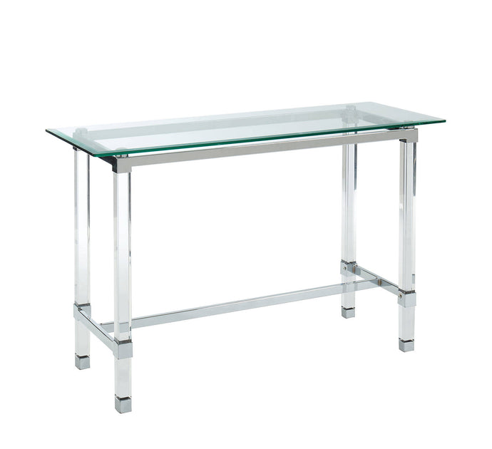 Furniture Of America Tuva Chrome Metal Finish Sofa Table