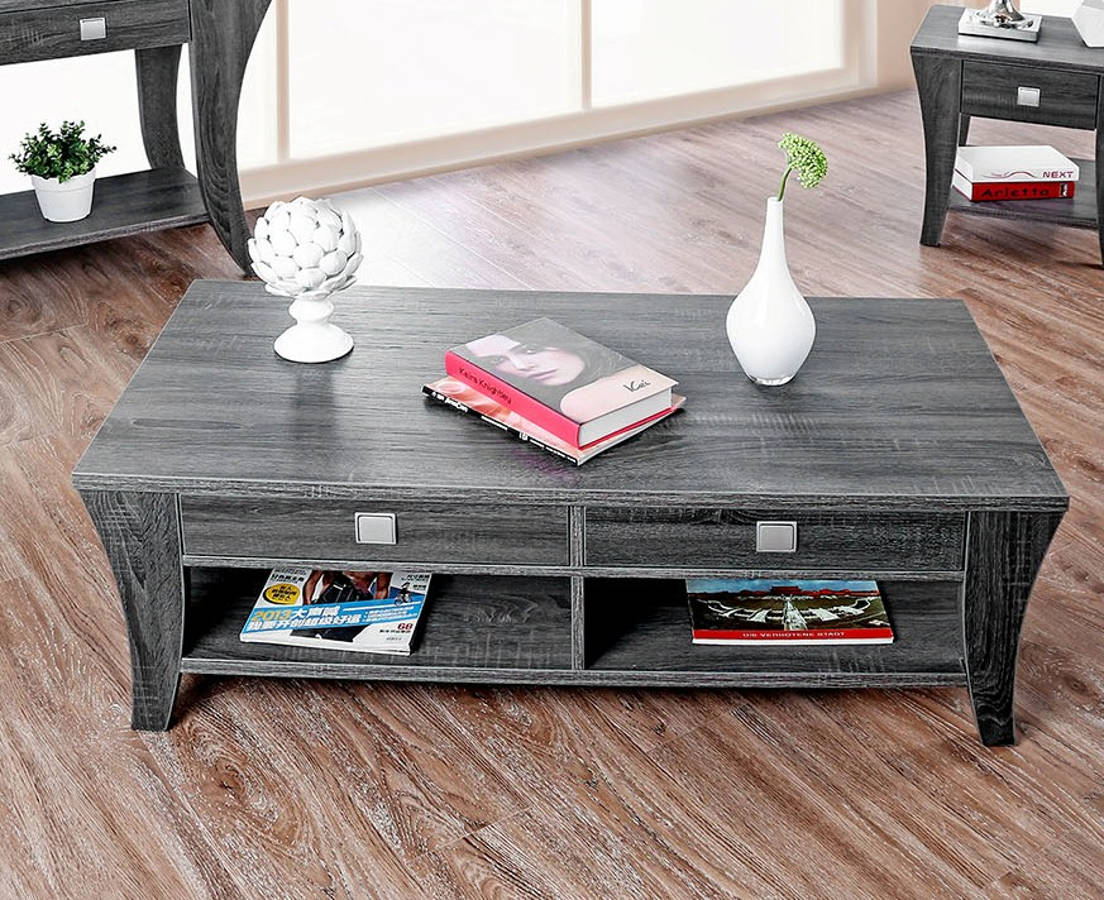 Furniture Of America Amity Gray Wood Finish Coffee Table