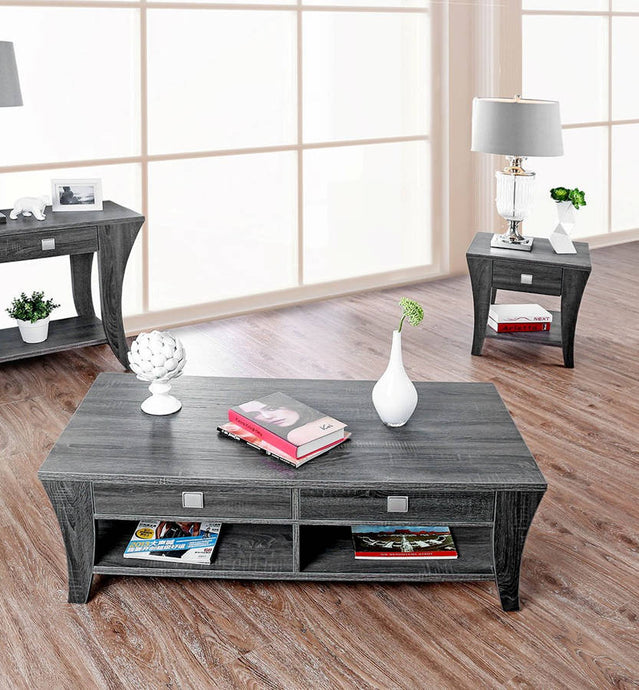 Furniture Of America Amity Gray Wood Finish 3 Piece Coffee Table Set