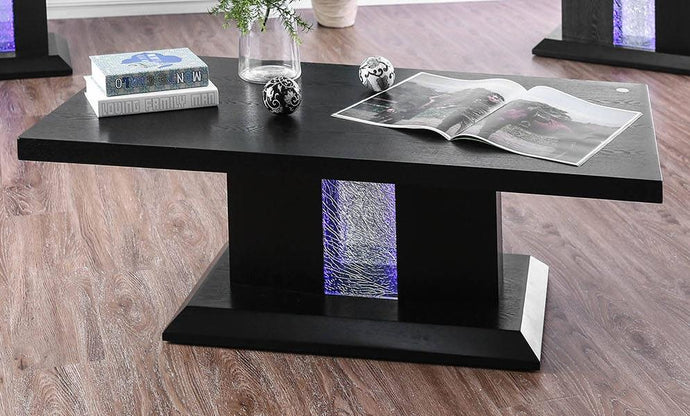 Furniture Of America Tobias Black Wood Finish Coffee Table