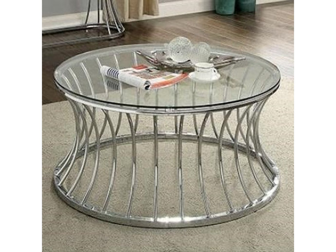 Furniture Of America Esme Chrome Metal Finish Coffee Table