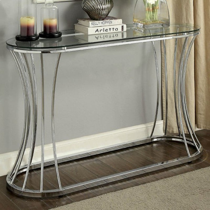 Furniture Of America Esme Chrome Metal Finish Sofa Table