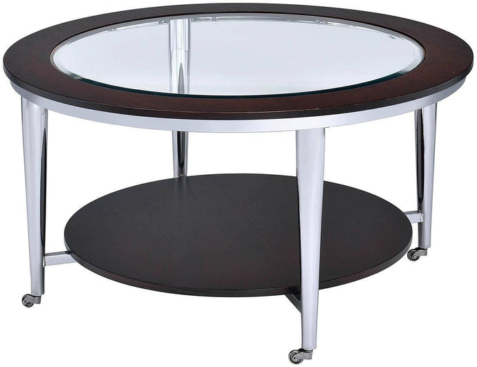 Furniture Of America Azaria Espresso Metal Finish Coffee Table
