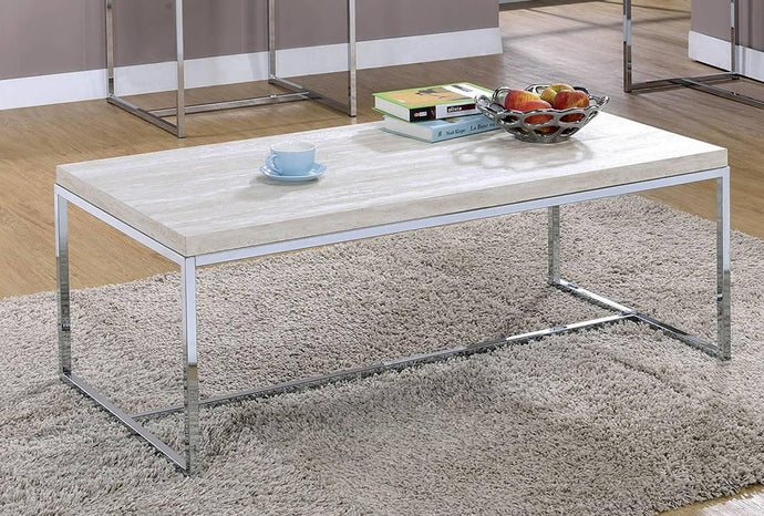 Furniture Of America Olle Natural Metal Finish Coffee Table