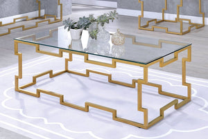Furniture Of America Josephine Gold Metal Finish Coffee Table