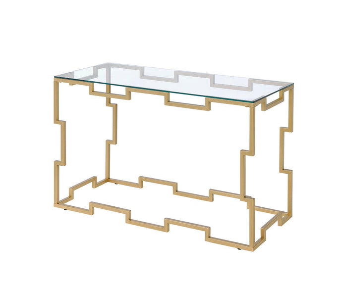 Furniture Of America Josephine Gold Metal Finish Sofa Table