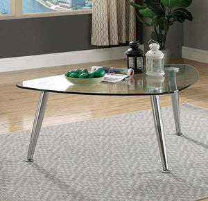 Furniture Of America Delany Chrome Metal Finish Coffee Table