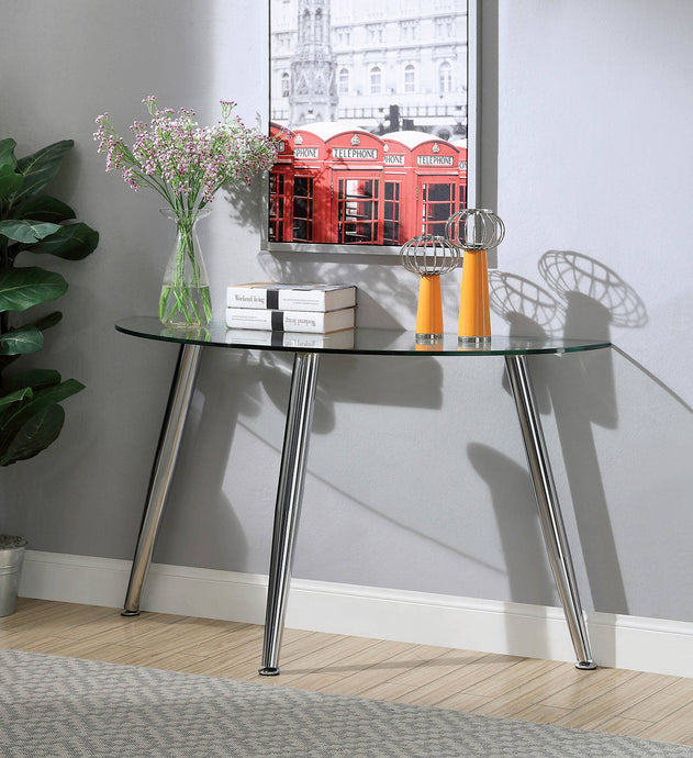 Furniture Of America Delany Chrome Metal Finish Sofa Table