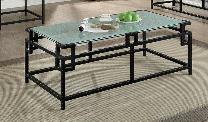 Furniture Of America Selene Black Metal Finish Coffee Table