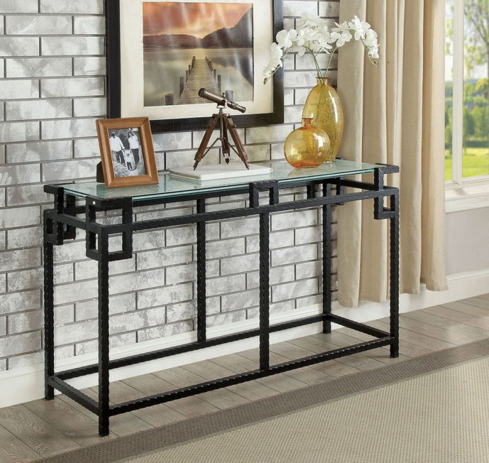 Furniture Of America Selene Black Metal Finish Sofa Table